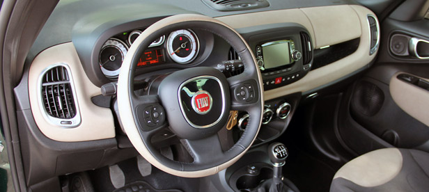 fiat 500l lounge interior images galleries with a bite. Black Bedroom Furniture Sets. Home Design Ideas