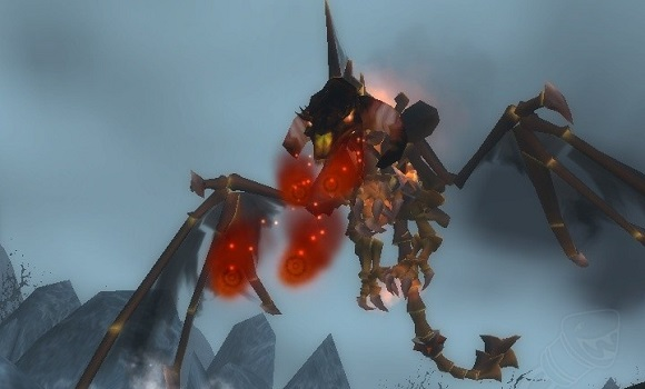 Nightbane breathing fire