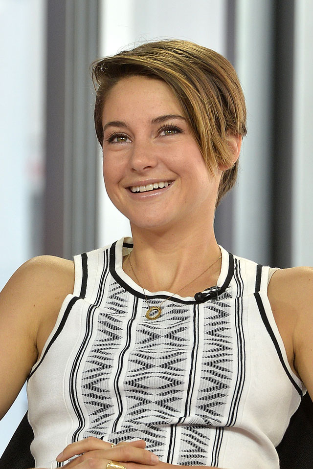 TORONTO, ON - MARCH 06:  Shailene Woodley talks about her role as Tris Prior  in the film Divergent at The Morning Show Studios on March 6, 2014 in Toronto, Canada.  (Photo by Jag Gundu/FilmMagic)