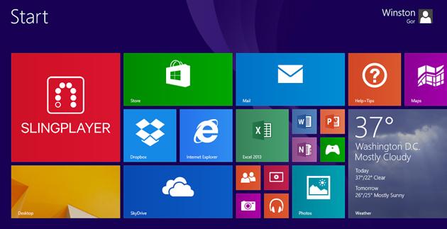 Windows 8 版 SlingPlayer 推出,要價 US$15 但有試用版