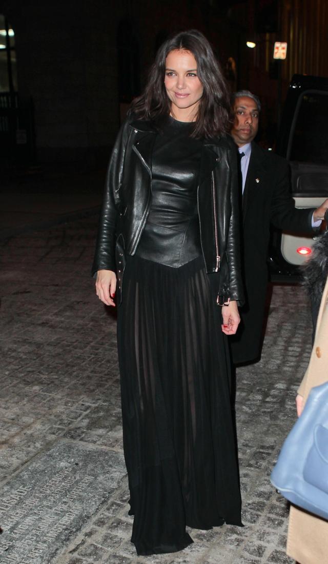 katie-holmes-sheer-skirt-donna-karan-new-york-fashion-week