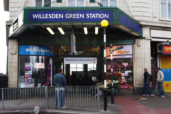 Willesden Green Station, in north-west London.