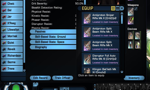 STO quick swap ground weapons