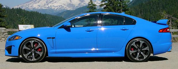 2013 Jaguar XFR-S side view