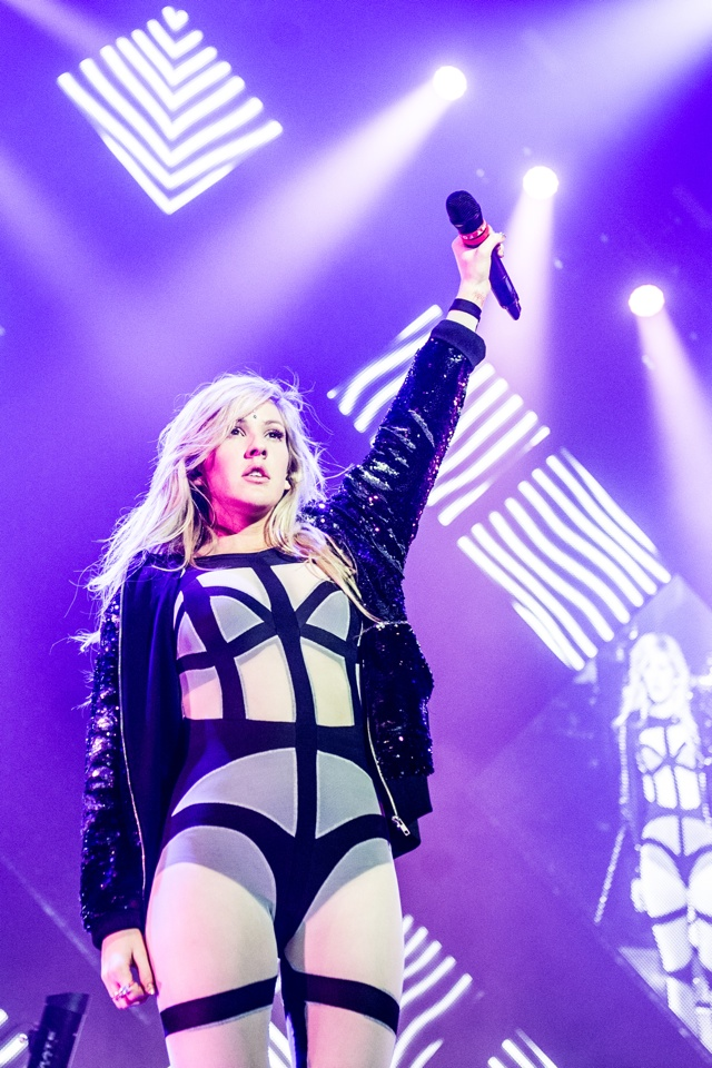 NOTTINGHAM, UNITED KINGDOM - MARCH 05: Ellie Goulding performs on stage on the opening night of her March 2014 UK Arena Tour at Nottingham Capital FM Arena on March 5, 2014 in Nottingham, United Kingdom. (Photo by Ollie Millington/Redferns via Getty Images)