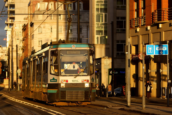 A general view of a Manchester Metrolink tram. Voters have their last chance today to vote in a referendum on the introduction of a congestion charge in Greater Manchester.