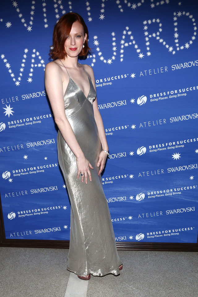 NEW YORK, NY - JANUARY 13:  Model Karen Elson attends the Vintage Vanguard event benefiting Dress For Success on January 13, 2014 in New York, United States.  (Photo by Paul Zimmerman/Getty Images)