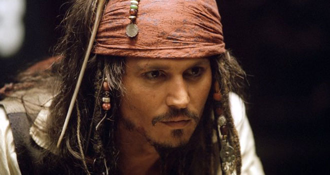Johnny Depp in 'Pirates of the Caribbean: The Curse of the Black Pearl'