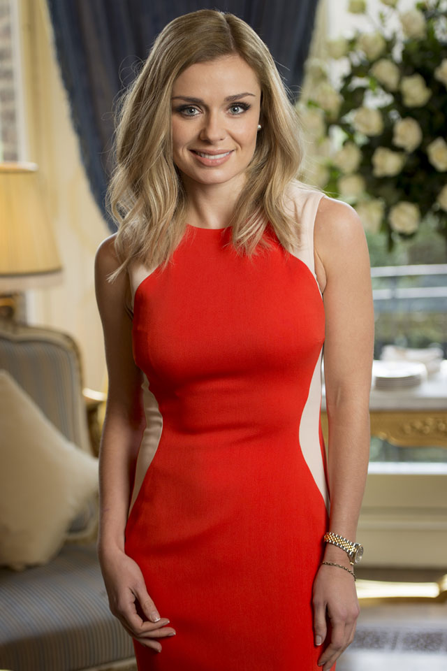 LONDON, ENGLAND - JANUARY 20:  (EXCLUSIVE COVERAGE) Katherine Jenkins hosts a breakfast for key press to announce her signing new deal with Decca Records at The Ritz on January 20, 2014 in London, England.  (Photo by Ian Gavan/Getty Images)