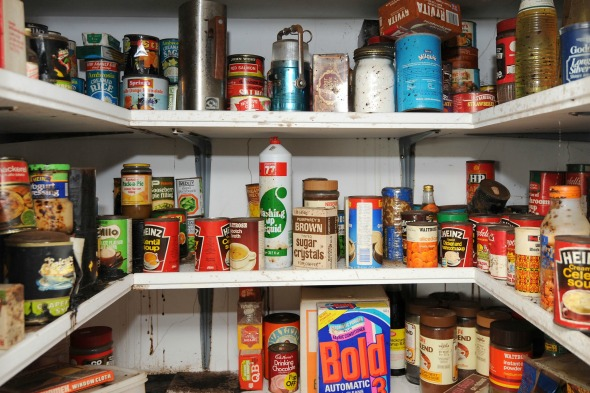 Inside the cupboard