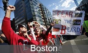 Boston fans celebrate world series win