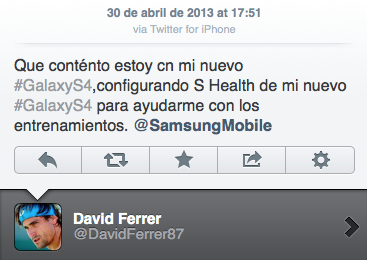 David ferrer twitter iphone