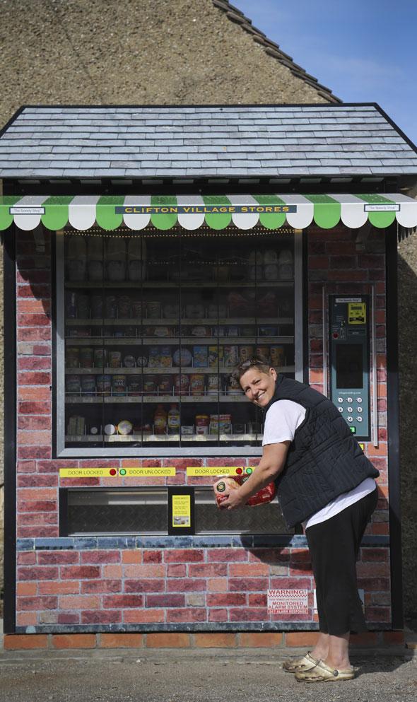 Giant vending machine replaces village shop in Clifton Derbyshire
