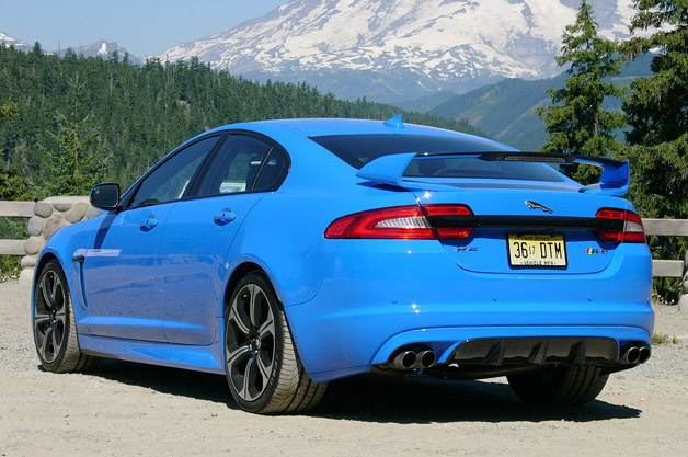 2013 Jaguar XFR S Rear 3/4 View