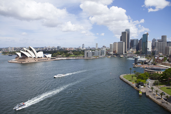 Mandatory Credit: Photo by Phil Hill/REX (1937200aa) View of Sydney Harbour from the Harbour bay bridge Various Australia - 2012