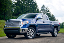 2014 Toyota Tundra Doublecab - front three-quarter view, blue