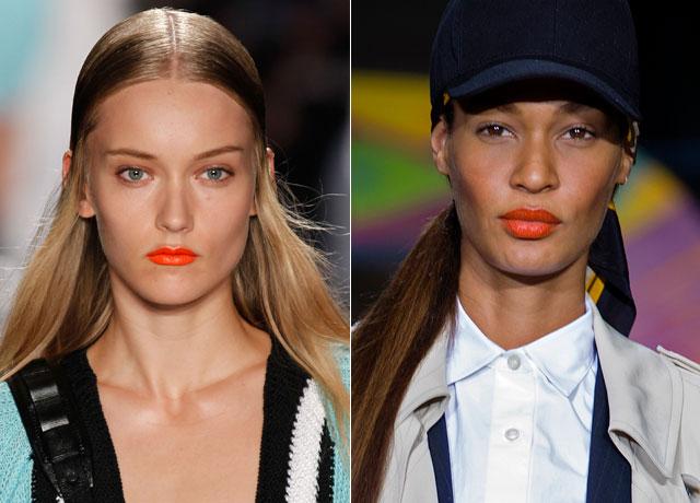 models-wearing-orange-lipstick