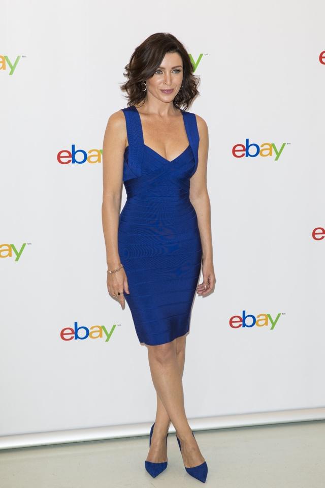 dannii-minogue-blue-bodycon-dress-ebay-collections-launch
