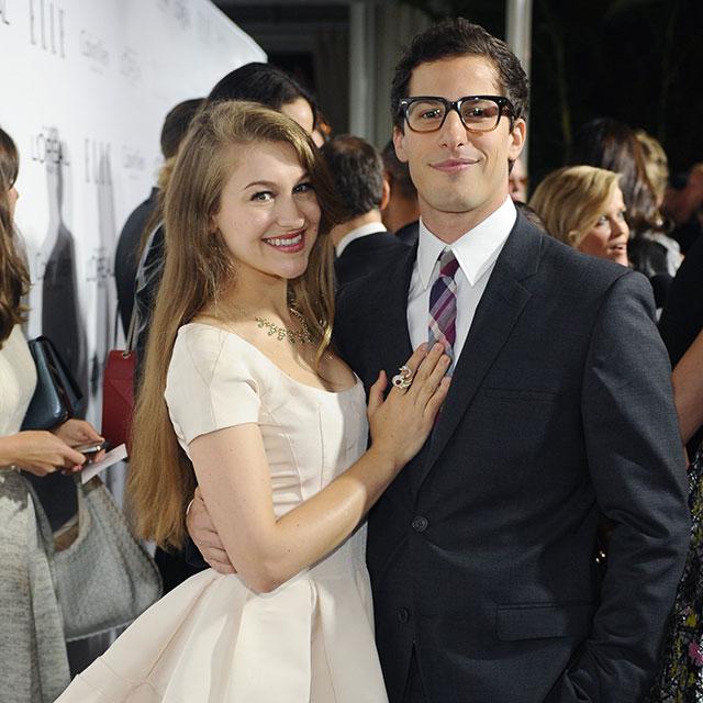 Andy Samberg and his wife Joanna Caroline Newsom