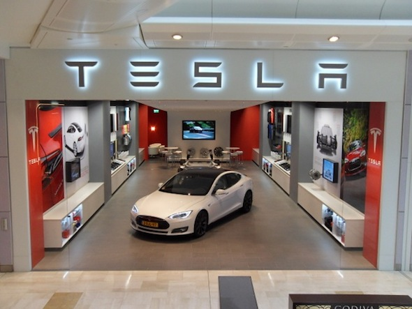 Tesla showroom Westfield