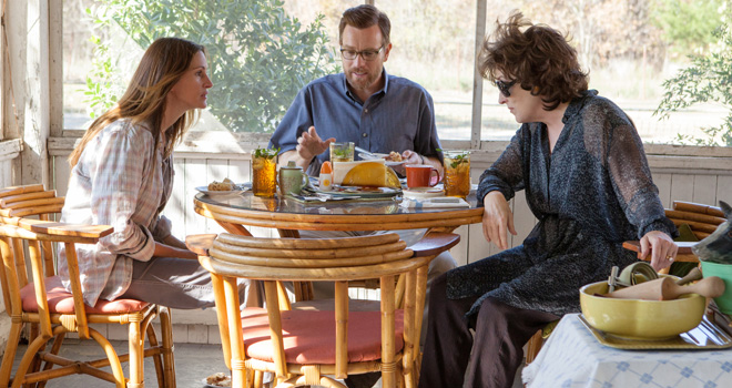 Julia Roberts, Ewan McGregor, and Meryl Streep in 'August: Osage County'