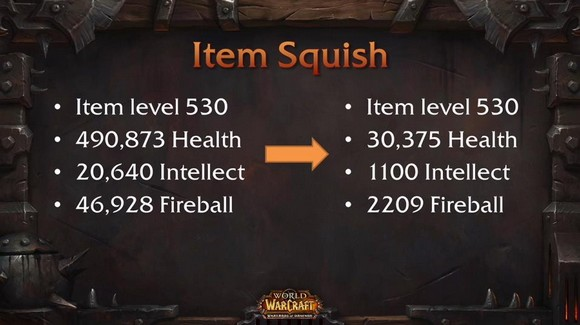 Blizzcon item squish