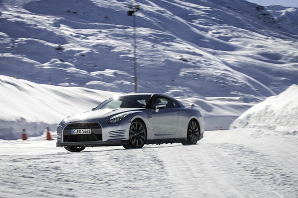 Nissan GT-R on ice