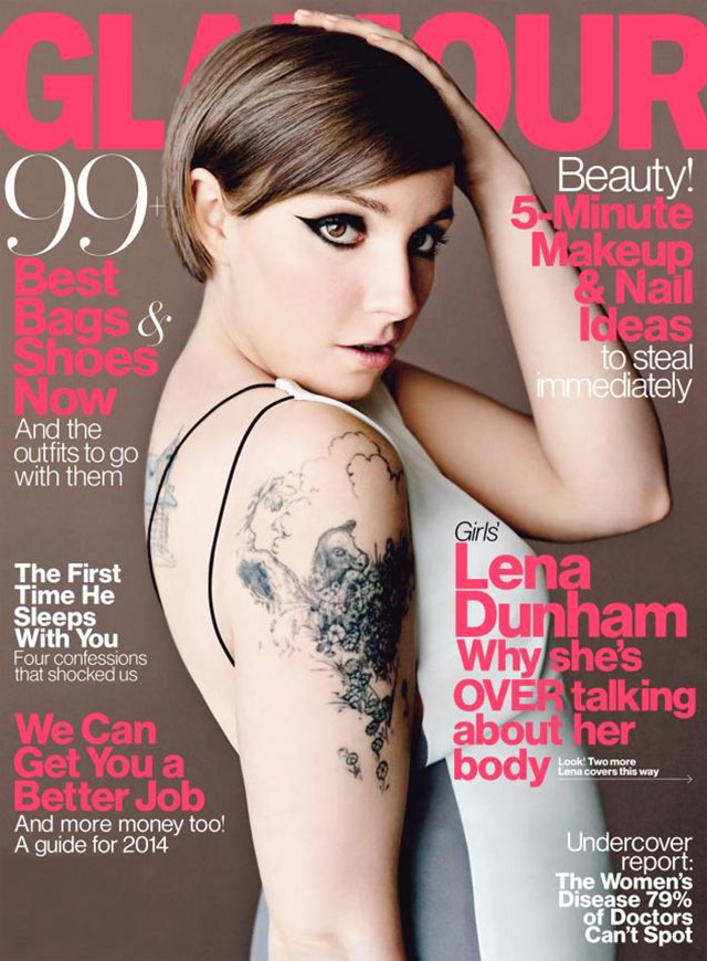 lena dunham cover us glamour's april issue