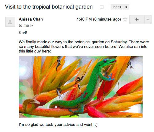 Gmail 啓動全面檢查圖片附檔機制,使用者將可更放心地讓郵件自動顯示美麗圖片了