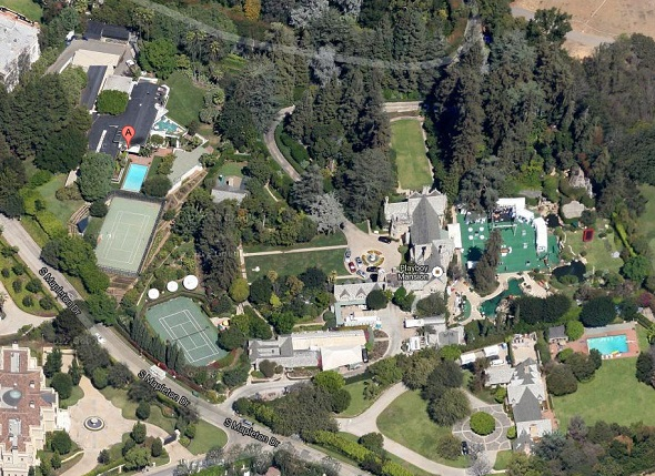 ellen degeneres house aerial view
