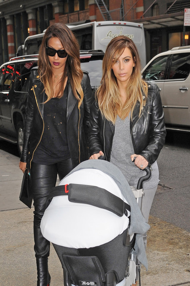 Kim Kardashian takes baby North for lunch with La La Anthony at the