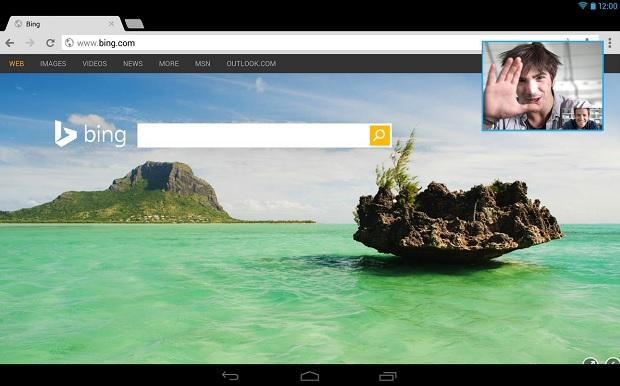 Android 版 Skype 將「畫中畫」功能帶到平板上