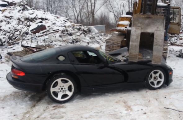 Crushed Dodge Viper
