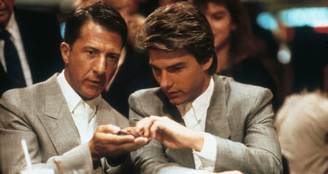 RAIN MAN [US 1988]  DUSTIN HOFFMAN, TOM CRUISE     Date: 1988