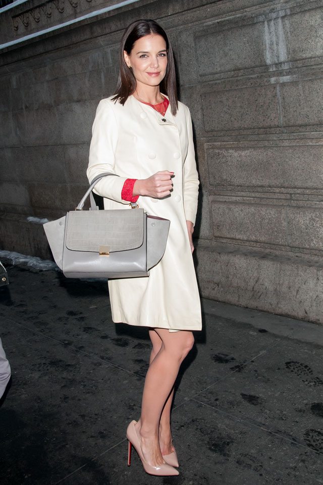 Celebrities spotted  outside The New York Public Library attending The Marchesa Fashion Show  Featuring: Katie Holmes Where: Manhattan, New York, United States When: 13 Feb 2014 Credit: Ivan Nikolov/WENN.com