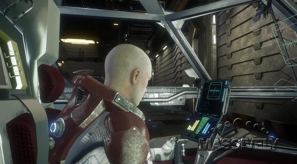 Star Citizen Aurora cockpit interior