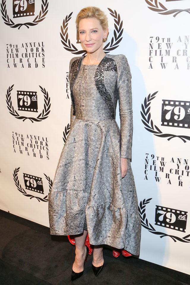 NEW YORK, NY - JANUARY 06:  Cate Blanchett attends the New York Film Critics Circle 2013 Awards Ceremony at The Edison Ballroom on January 6, 2014 in New York City.  (Photo by Charles Norfleet/FilmMagic)