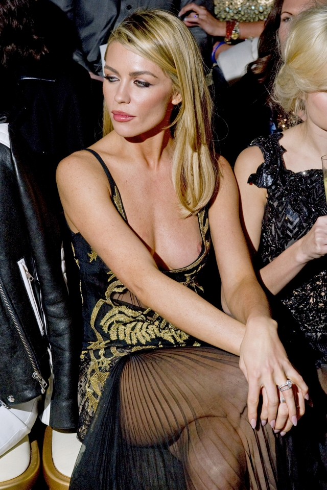 Abbey Clancy Makes Style Front Row At Julien Macdonald Fashion Show