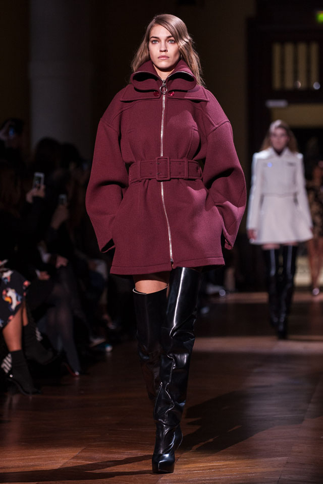 PARIS, FRANCE - FEBRUARY 27:  A model walks the runway during the Carven show as part of the Paris Fashion Week Womenswear Fall/Winter 2014-2015 on February 27, 2014 in Paris, France.  (Photo by Francois Durand/Getty Images)