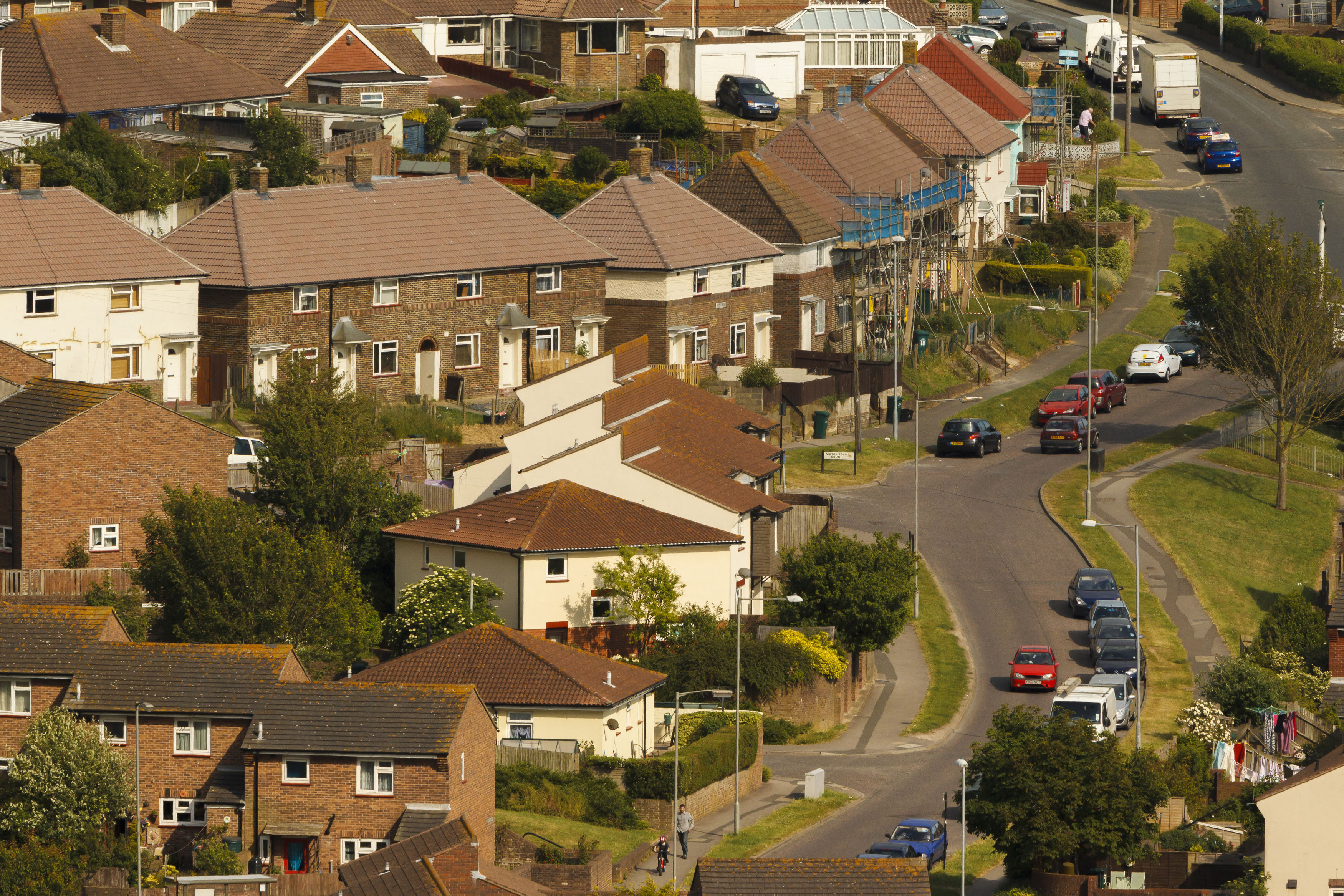 File photo dated 25/06/13 of houses in Brighton as surveyors saw house sales lift to the strongest levels in nearly six years in the run-up to Christmas as the market began to