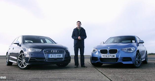 【ビデオ】Audi「S3」とBMW「M135i」がバトル! 果たして勝者は?