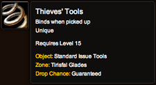 Thieves' Tools tooltip