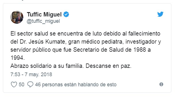 #QEPD. Murió Jesús Kumate, investigador emérito de
