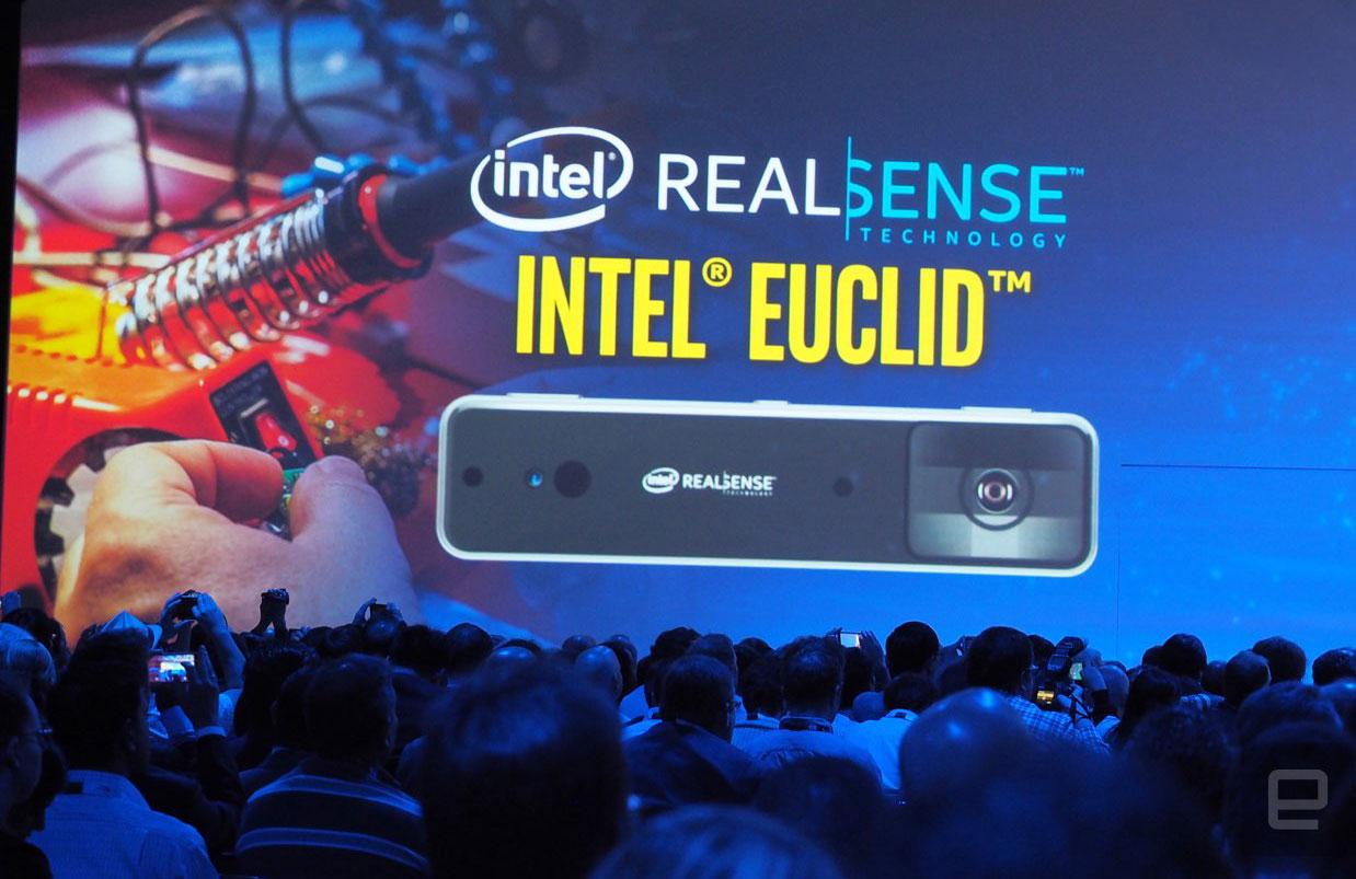 搭载了英特尔 RealSense 的 Euclid,是款只有糖果棒大小的迷你 PC