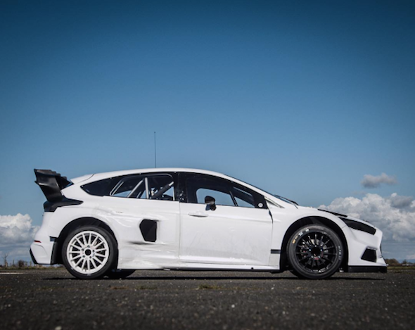 ken block has revealed his new 600hp ford focus rs rallycross machine aol uk cars. Black Bedroom Furniture Sets. Home Design Ideas