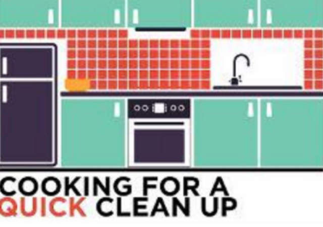 Cooking for a quick clean-up