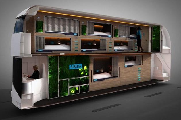 まるで動くカプセルホテル! 寝具メーカーが手がけた寝台バス「スヌーズライナー」が英国に登場