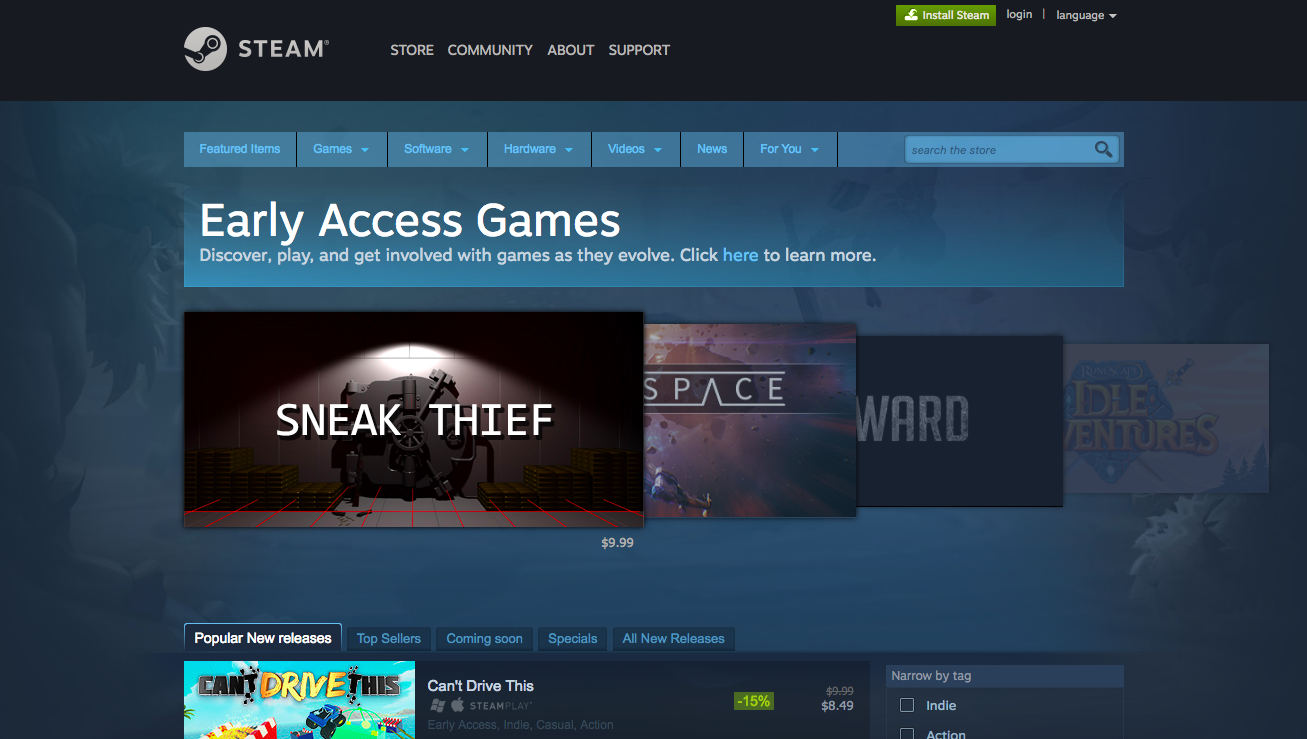 Steam Early Access at a glance  screenshot taken September 26 db1fa48a5f5