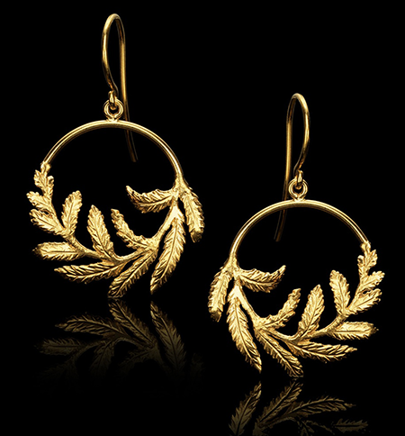 Catherine Zoraida Fern Hoop earrings
