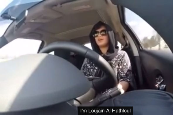 Loujain Al-Hathlool challenges Saudi Arabia's driving ban on women